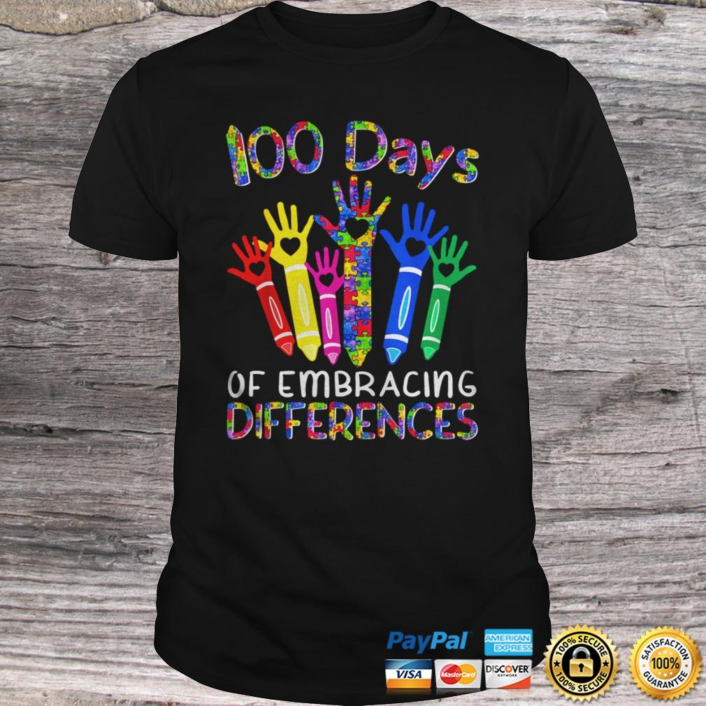100 Days Of Embracing Differences IEP 100th Day Of School TShirt Shirt