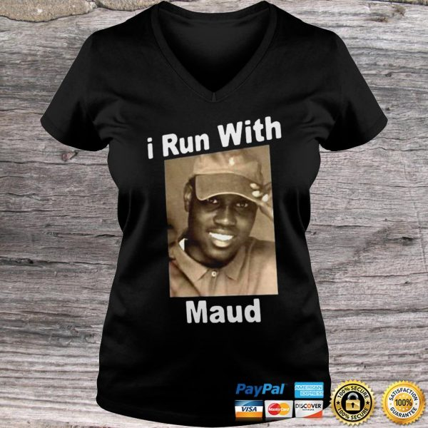 AHMAUD ARBERY I RUN WITH MAUD SHIRT Ladies V-Neck