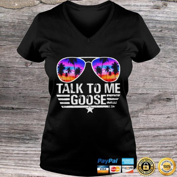 Top Gun talk to me goose shirt Ladies V-Neck