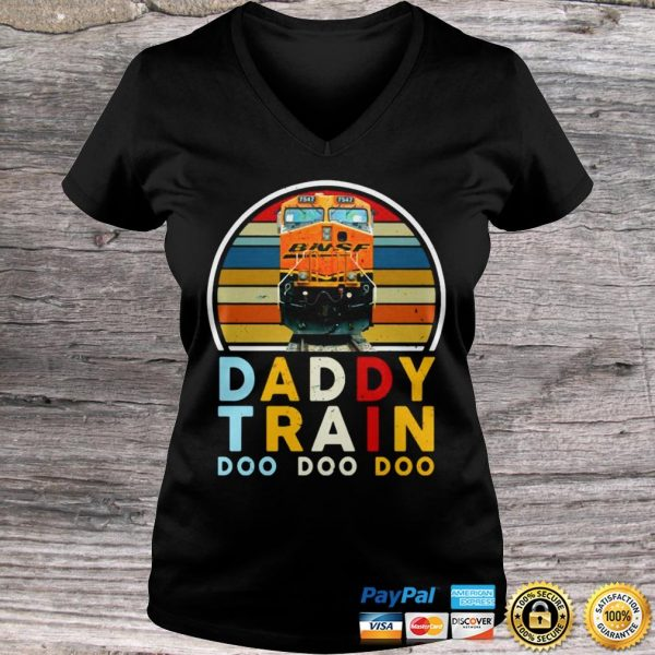 Vintage Daddy Train Bnsf Doo Doo Doo Shirt Ladies V-Neck