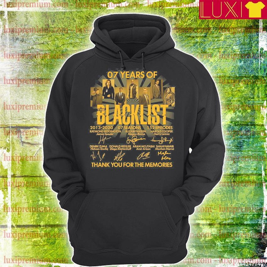 07 years of blacklist thank you for the memories s hoodie